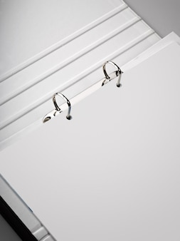 Binder with a blank sheet