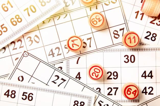 Bingo or lotto game.