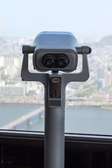 韓国、ソウルの63の建物の双眼鏡