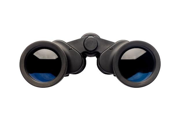 孤立した白の双眼鏡