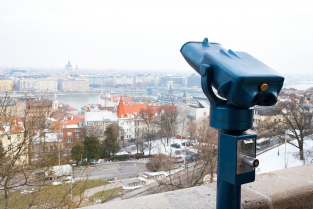 Binoculars for tourists to explore the city