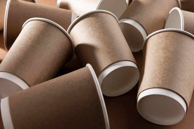 Bio cardboard paper cups for coffee