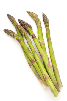 Bio fresh green asparagus isolated