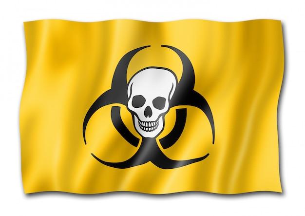 Biohazard death flag isolated