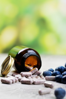 Биологически активная добавка - таблетки для здоровых глаз