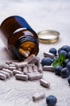 Biologically active supplement - pills for healthy eyes