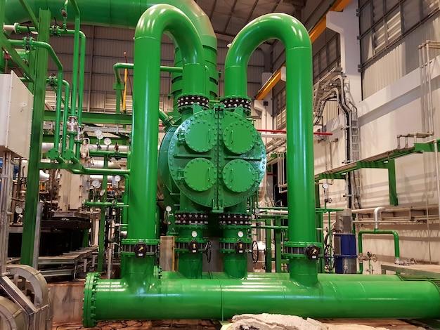 バイオマス発電所蒸気凝縮器