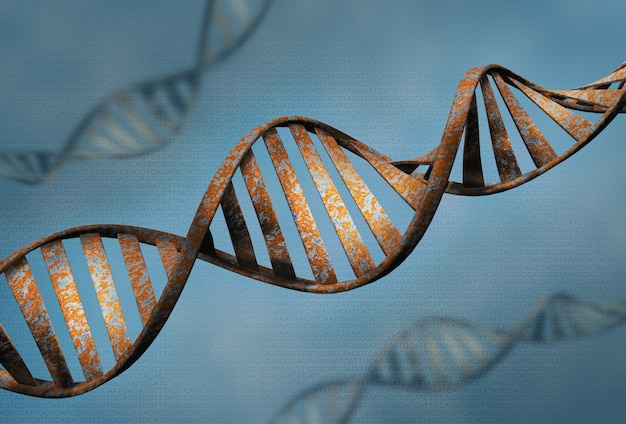 Biotechnology concept of old dna