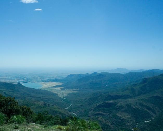 Bird eye view of water reservoir