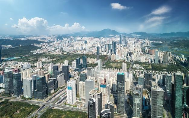Bird's-eye view of architectural landscape in shenzhen
