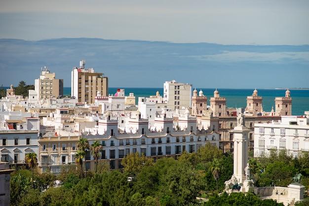 카디스 도시, 안달루시아, 스페인의 조감도