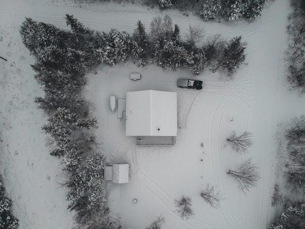 Bird's eye view photo of house