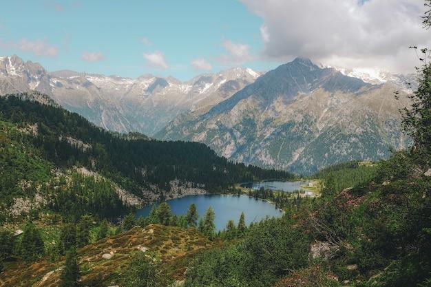 山脈の鳥瞰写真