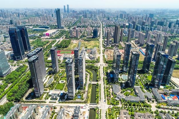 Una vista d'uccello di shanghai di shanghai