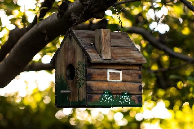 Birdhouse su un ramo