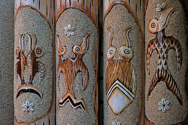 Birdman or tangata manu motif one of the most famous motifs on easter island chile