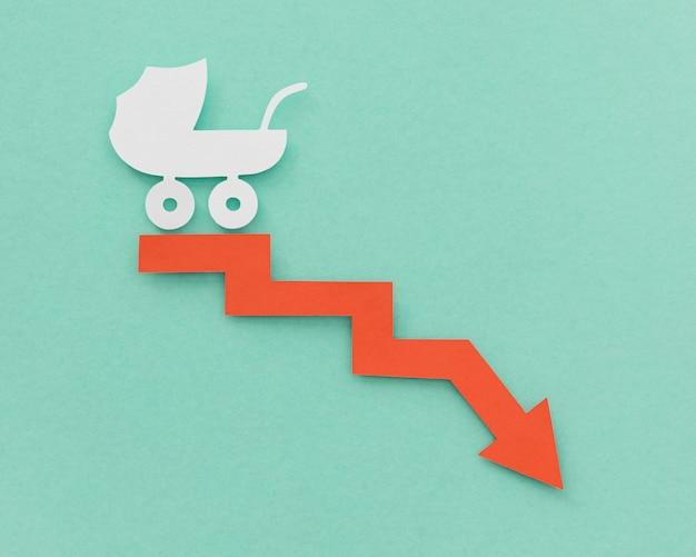 Concetto di fertilità del tasso di natalità