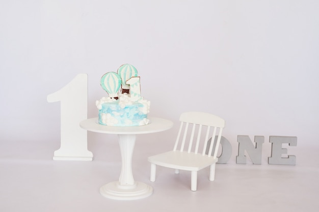 Birthday 1 year cake smash decor