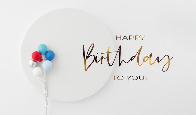 Birthday background invitation