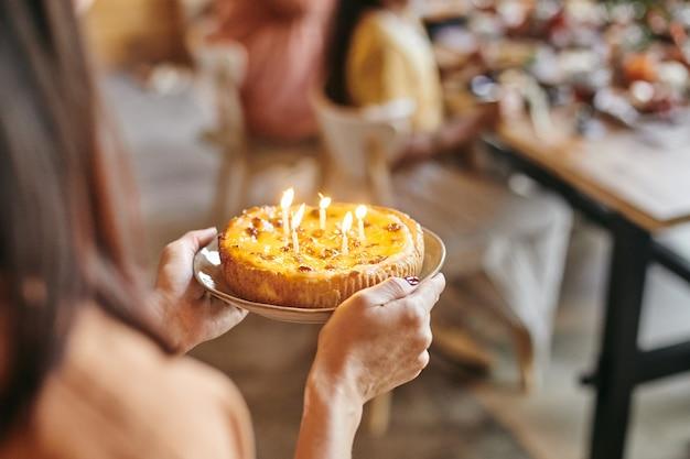 Birthday cake at birthday party