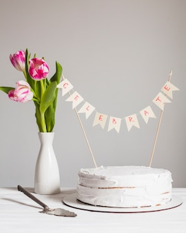 Birthday cake still life