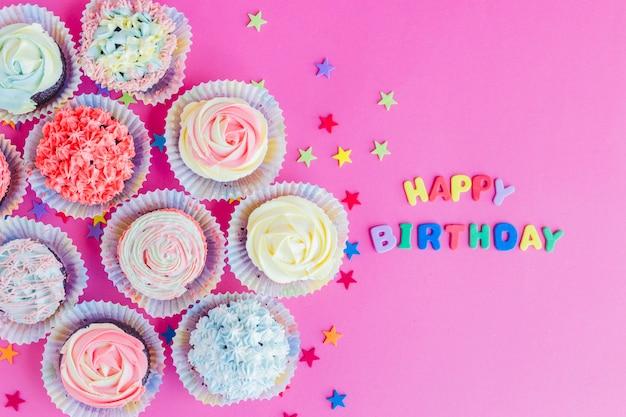 Cupcakes di compleanno in accordo