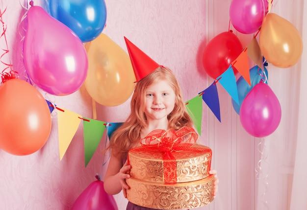 생일 소녀와 선물