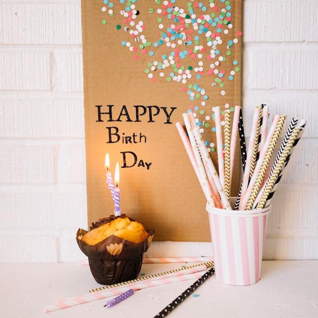 誕生日の挨拶と装飾