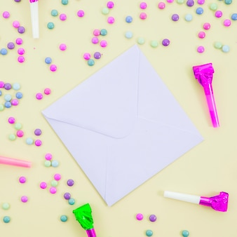 Birthday greeting card with confetti