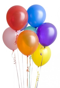 Birthday party balloons for celebration