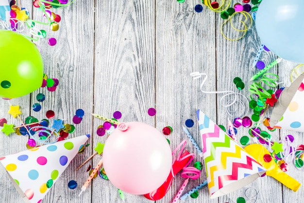 Birthday party decoration background