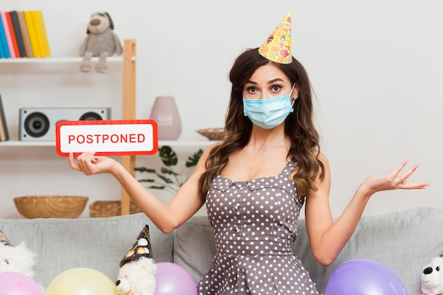 Birthday party postponed due to virus