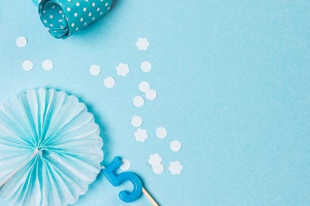 파란색의 생일 파티 벽, 파란색 파티 액세서리