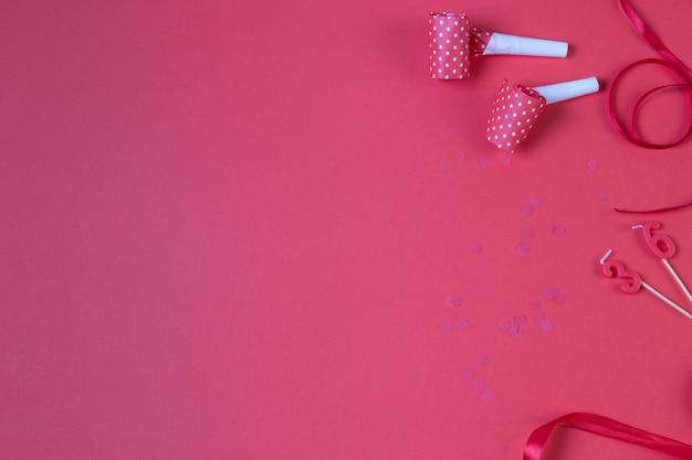 Стена дня рождения красного цвета, аксессуары для вечеринок на красном
