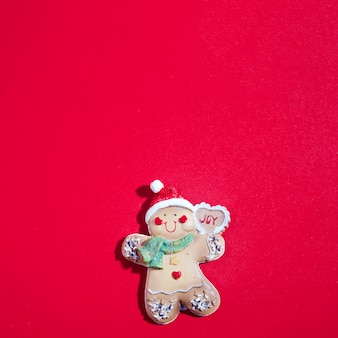 Biscuit in form of christmas toy