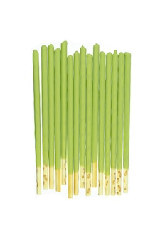 Biscuit stick coated with green tea isolated