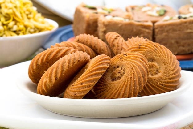 Biscuit sweet cookie background