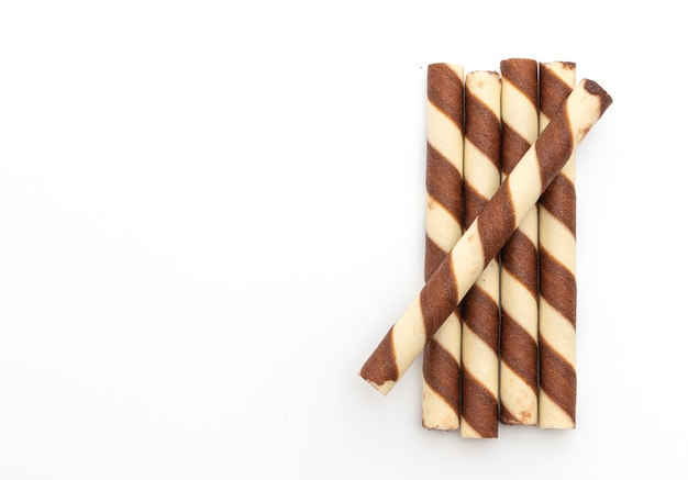 Biscuit wafer stick with chocolate cream flavour