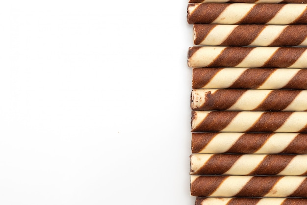 Biscuit wafer sticks with chocolate cream flavour