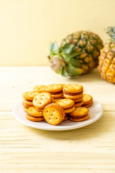 Biscuits with pineapple jam