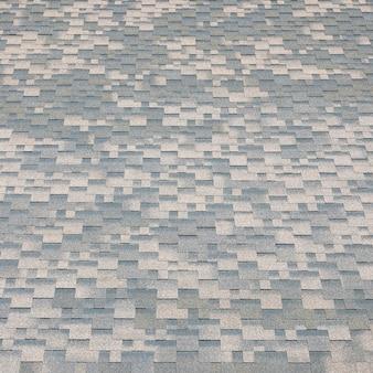 Bit青コーティングを施した平らな屋根瓦の背景モザイクテクスチャ
