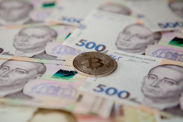 Bitcoin against the background of the ukrainian hryvnia