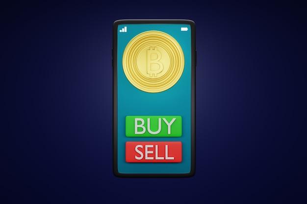 ビットコインとスマートフォン。