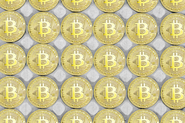 Bitcoin background. bitcoins and new virtual money concept. bitcoin is a new currency.