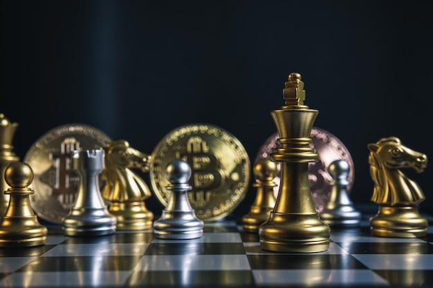 Bitcoin business strategy and chess board games