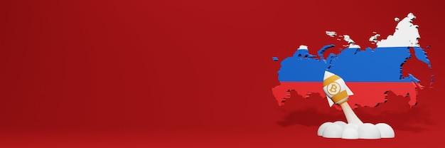 Bitcoin cash cryptocurrency rising chart in russia for website content