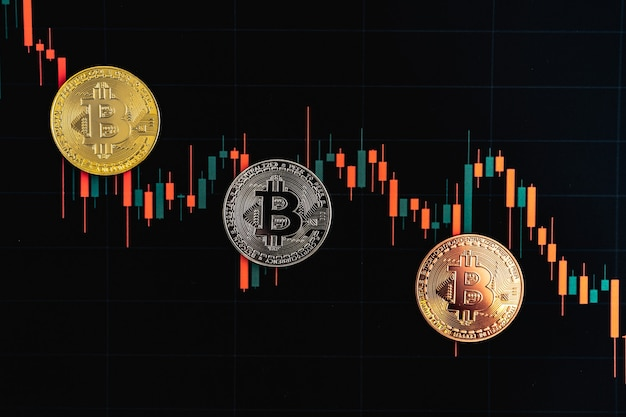 Bitcoin chart . cryptocurrency is the currency of the future. the market price is bitcoin.