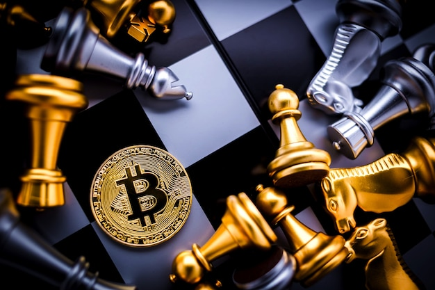 Bitcoin and chess board game