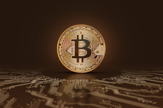 Bitcoin coin electronic money, crypto currency.