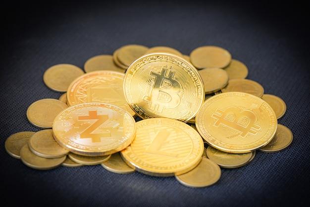 Биткойн-криптовалютный бизнес, финансирование золотых биткойн-монет, виртуальные деньги криптовалюты btc